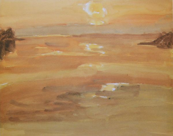Sir Kyffin Williams: Sunset Moel y Don