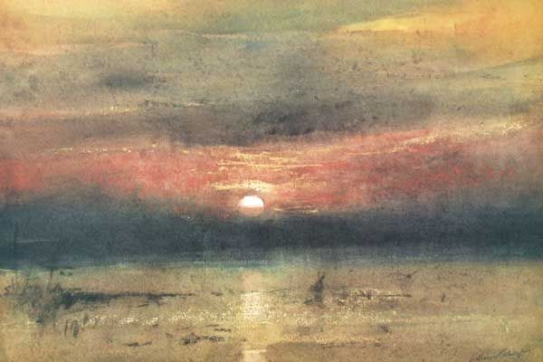 William Selwyn: Sunset over the Menai