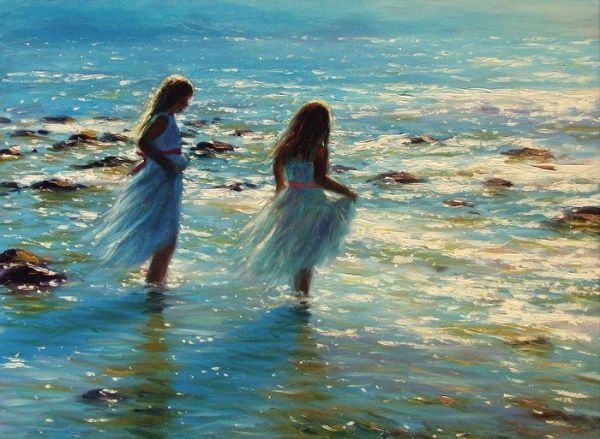 Steven Jones: Girls Standing in the Sea