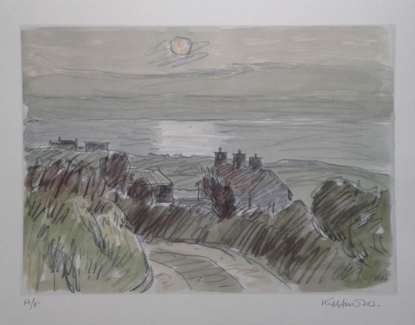 Sir Kyffin Williams: Sun on the Sea Porth Cwyfan